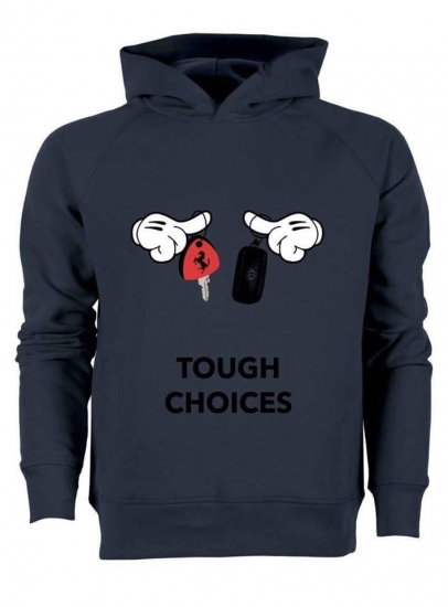 Trendy & Rare (トレンディ&レア) Hooded Sweatshirt Tough choices navy