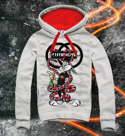 E1SYNDICATE Hooded Sweatshirt BUNNY ATTACK