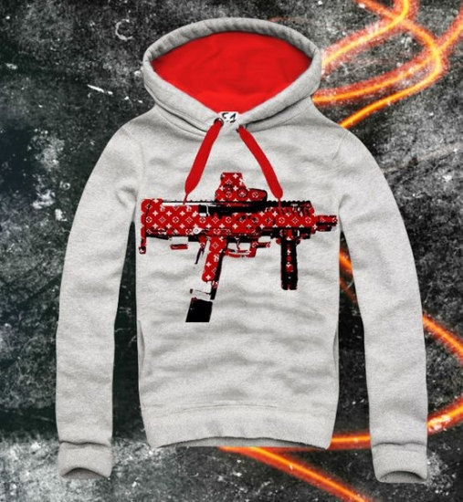 E1SYNDICATE Hooded Sweatshirt ASSAULT RIFLE